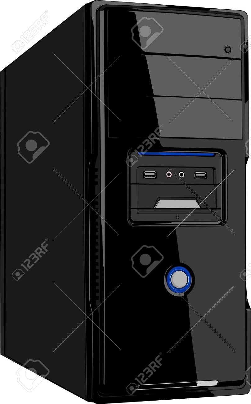 Clipart computer cover png Computer cpu clipart - ClipartFest png