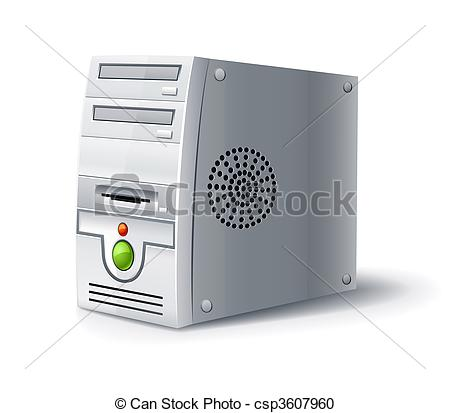 Clipart computer cover jpg transparent library Vector Clipart of case of pc computer block illustration, isolated ... jpg transparent library