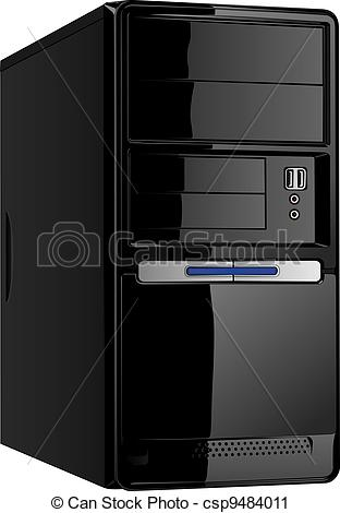 Clipart computer cover graphic free library Vector Clip Art of Computer case isolated on white background ... graphic free library