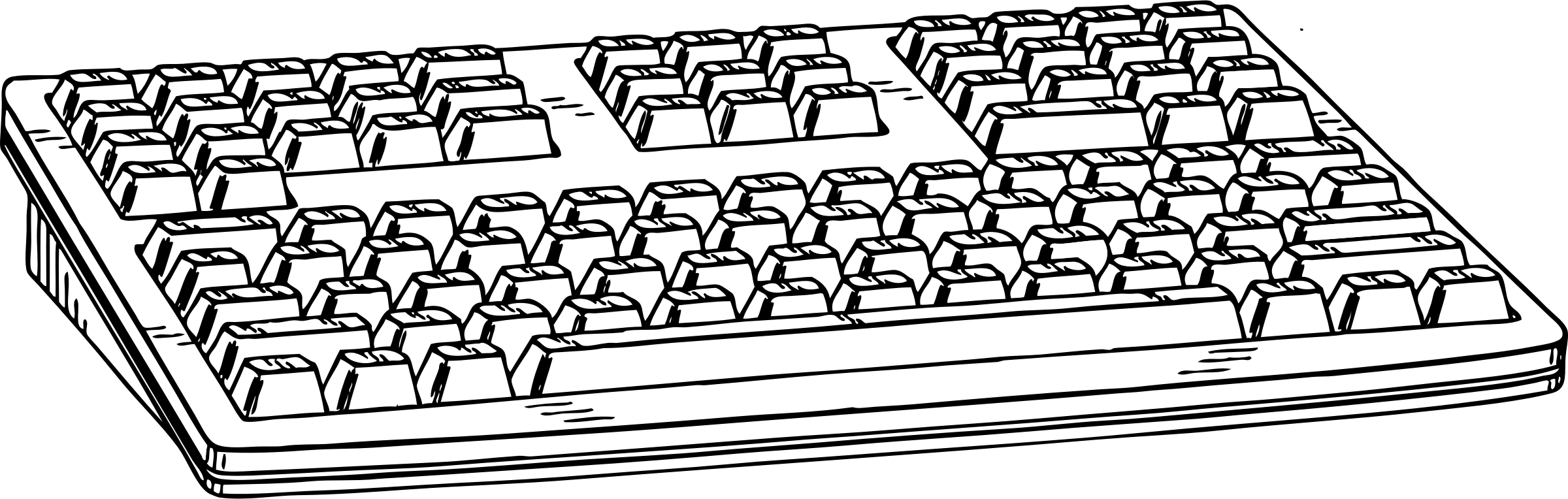 Clipart of computer keyboard vector black and white download Clipart - computer keyboard 1 vector black and white download