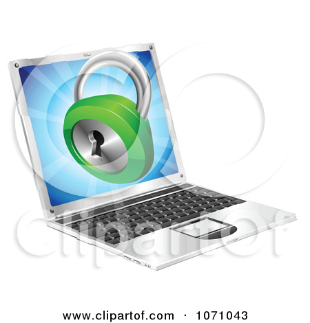 Clipart computer security png Clipart 3d Security Padlock Emerging From A Laptop Computer ... png