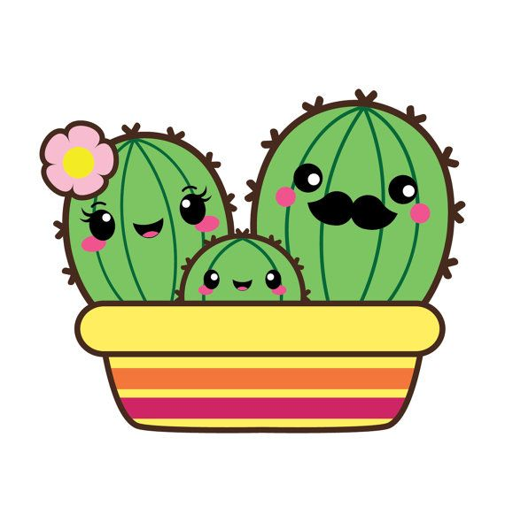 Clipart coms pictures clip download Kawaii cactus clipart, succulent clipart, kawaii cacti, Valentine ... clip download
