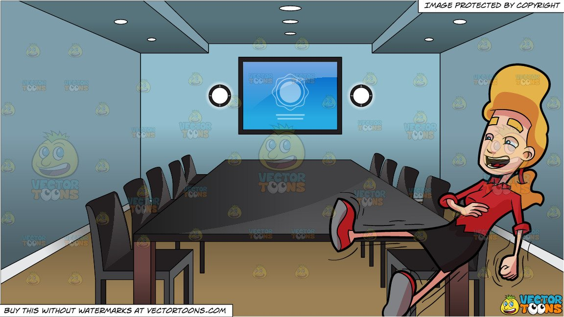 Clipart conference room vector freeuse A Woman Laughing Uncontrollably and Inside A Conference Room Background vector freeuse