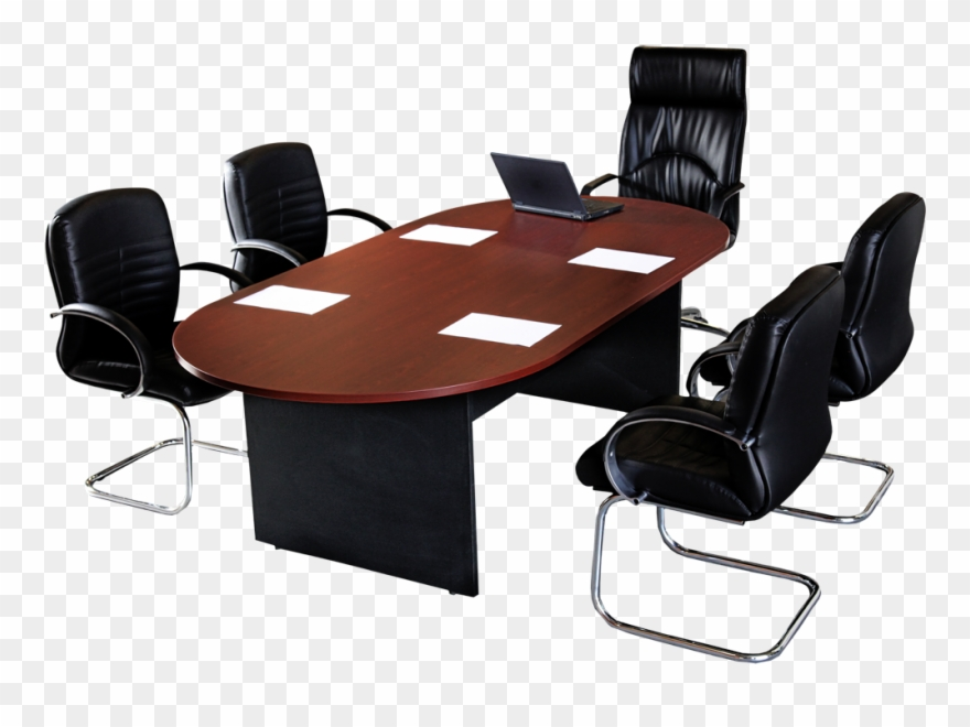 Conference table clipart svg black and white download Meeting Clipart Conference Table - Office Chair - Png Download ... svg black and white download