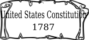 Clip art at clker. Clipart constitution united states