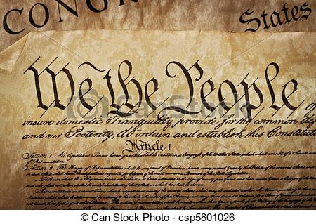 Clipart constitution united states jpg free download Stock Image of Close-up of the U.S. Constitution - The ... jpg free download