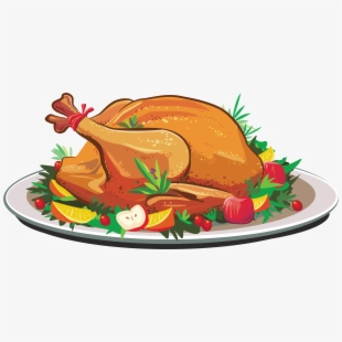 Clipart cooked turkey meat at the thanksgiving table clip free Cooked Clipart At - Thanksgiving Turkey Dinner Clipart #60379 - Free ... clip free