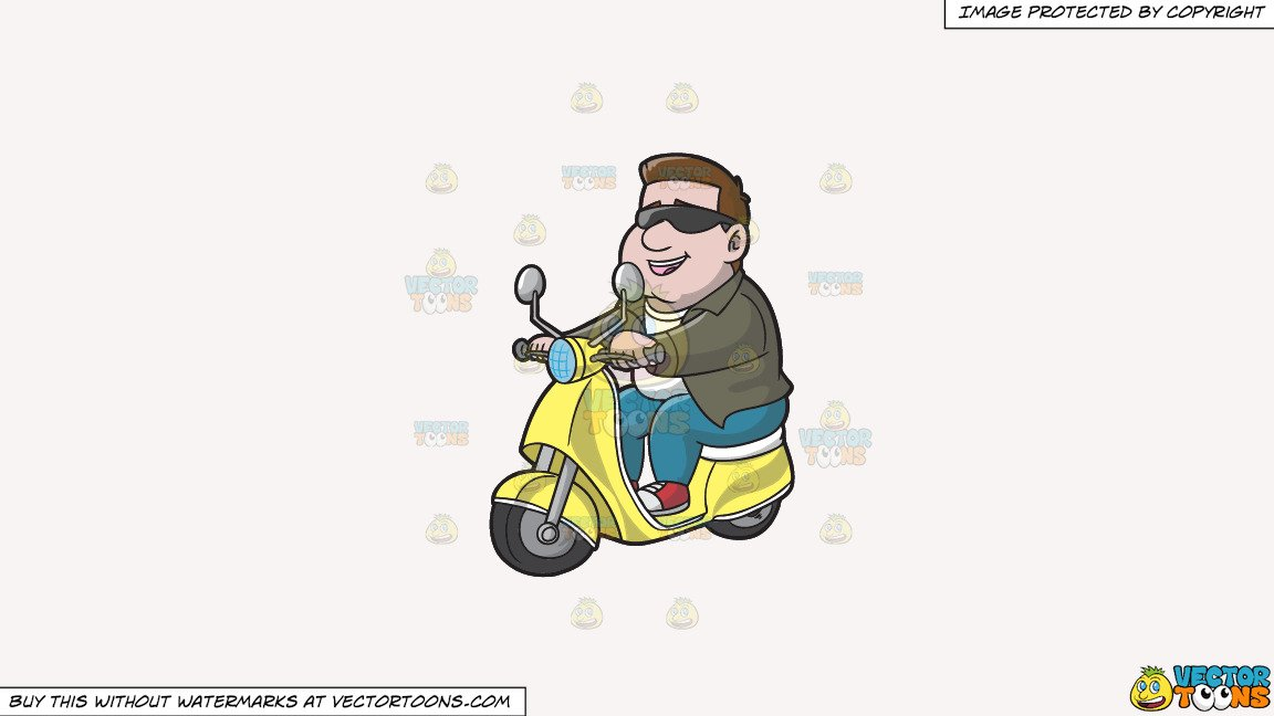 Clipart cool guy svg transparent library Clipart: A Cool Guy Riding A Scooter on a Solid White Smoke F7F4F3  Background svg transparent library