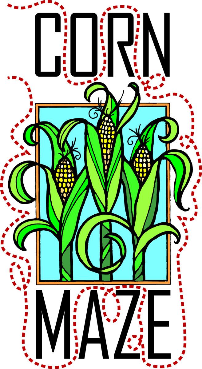 Clipart corn maze image black and white stock Corn Maze Clip Art - Clip Art Library image black and white stock