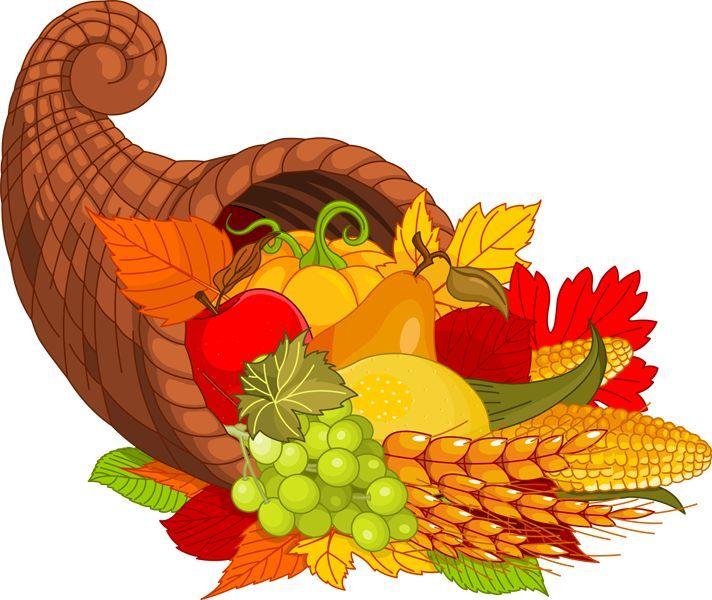 Cornucpia clipart clip stock Happy Thanksgiving Clip Art | Happy Thanksgiving Cornucopia Clip Art ... clip stock