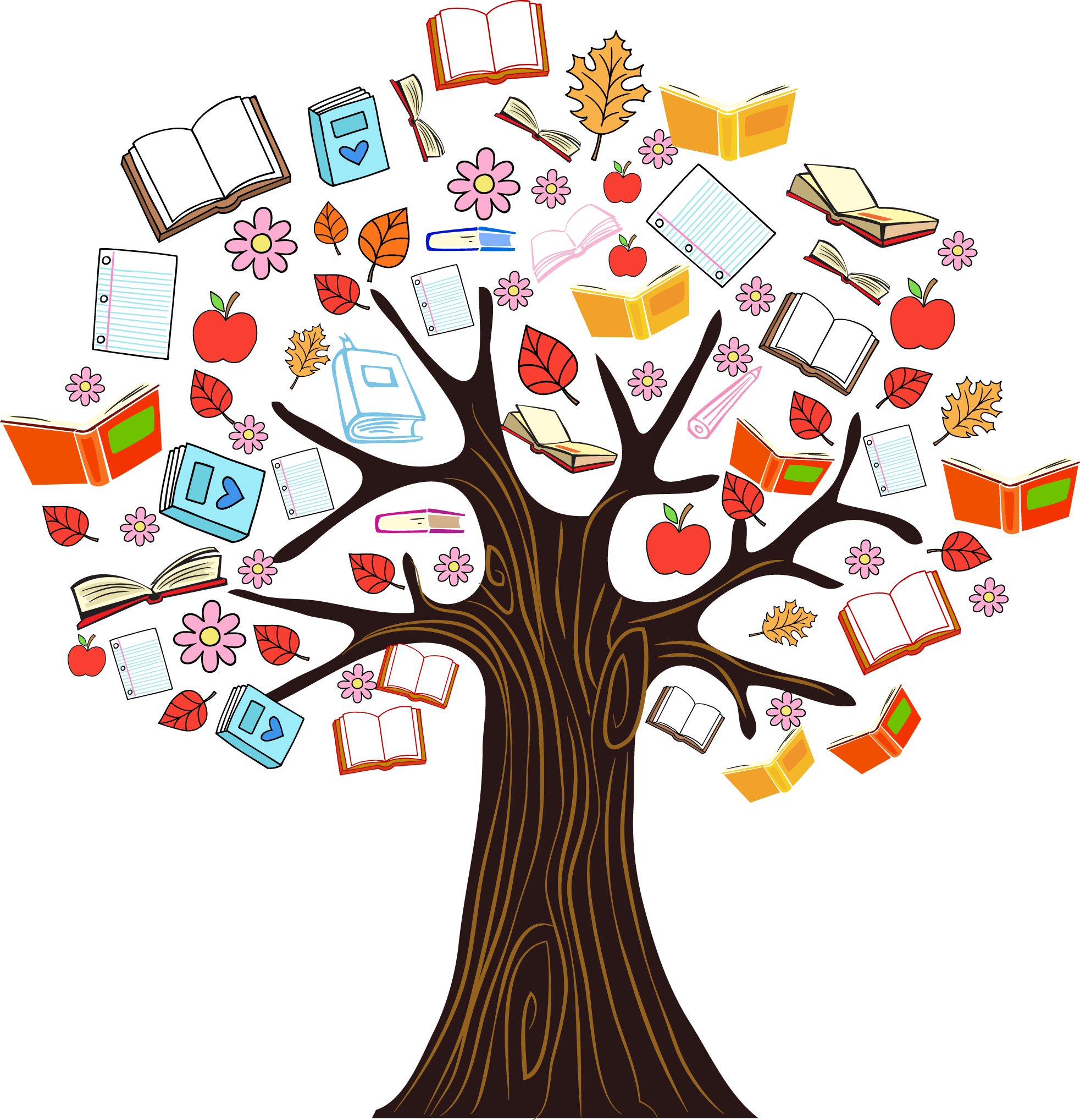 Tree of the knowledge of good and evil clipart download Book Tree Reading Clip art - Color book knowledge tree vector ... download