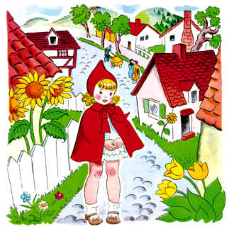Clipart cottage little red riding hood png freeuse download The story of Little Red Riding Hood png freeuse download