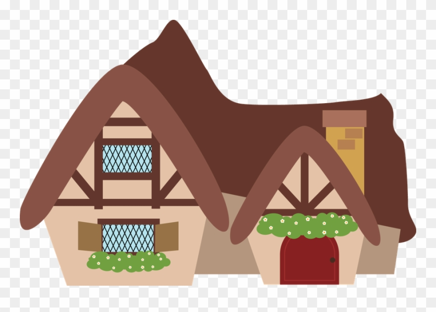 Clipart cottage little red riding hood clip library Snow White Clipart Huts - Little Red Riding Hood Cartoon House - Png ... clip library