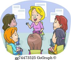 Group counseling clipart