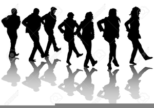 Clipart country dance clip black and white Country Line Dancing Clipart   Free Images at Clker.com - vector ... clip black and white