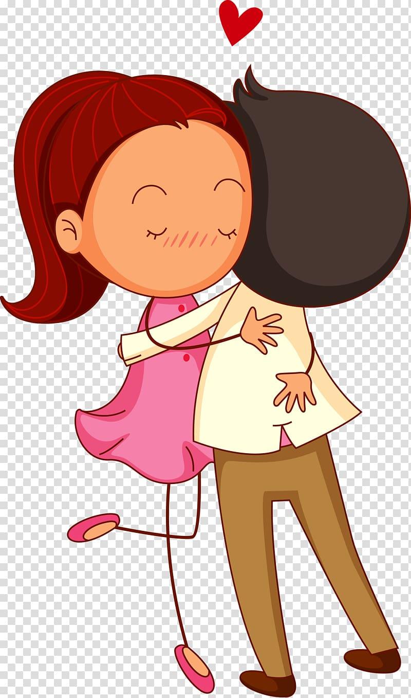 Clipart couple hugging banner transparent download Boy hugging girl illustration, Hug Cartoon Drawing Illustration ... banner transparent download