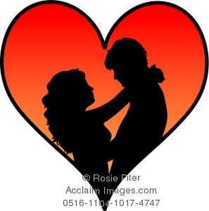 Clipart couple hugging svg transparent library Clipart Illustration of a Silhouetted Couple Hugging Inside a Heart svg transparent library