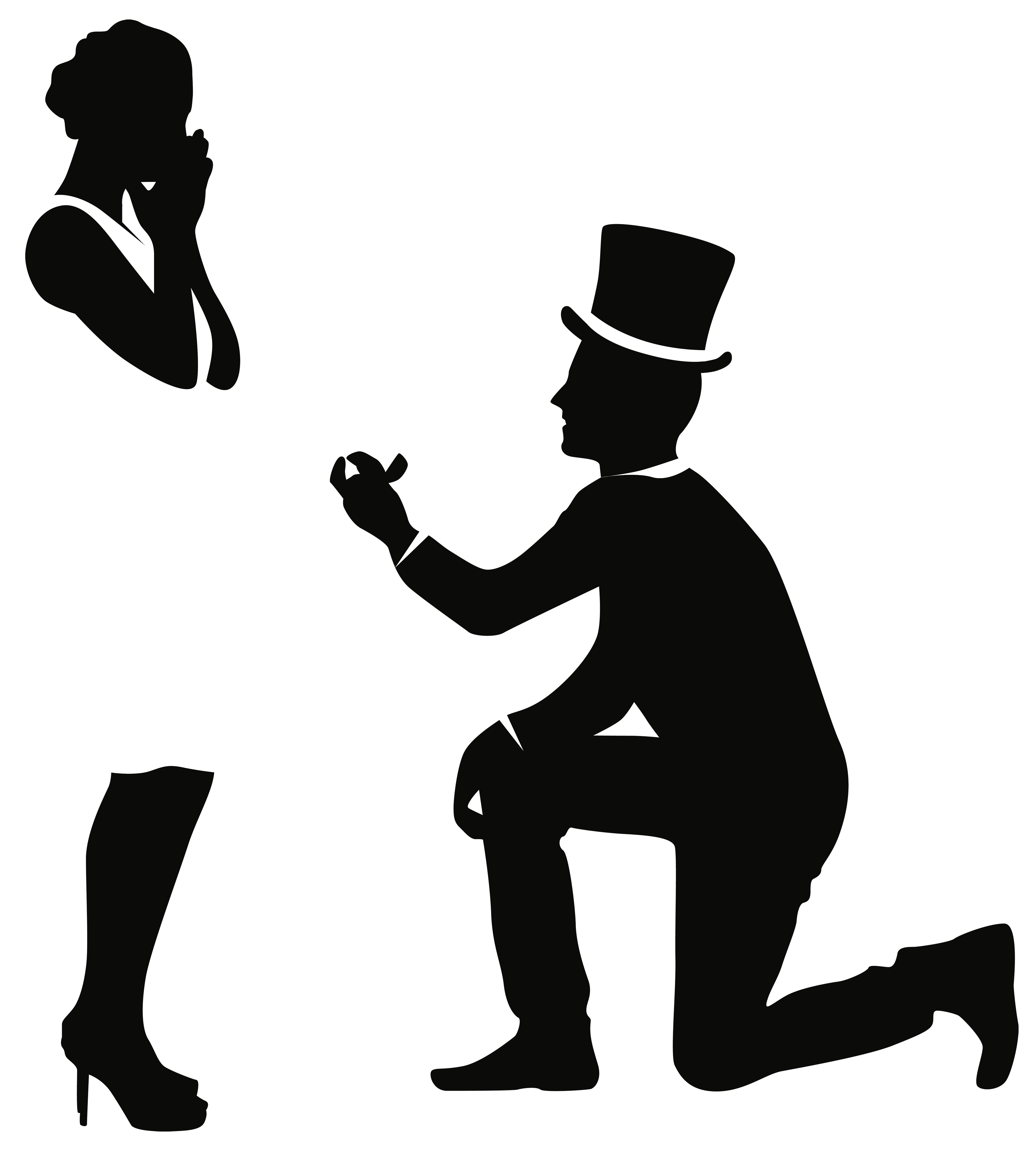 Hands holding fish clipart clip black and white download Romantic Couple Silhouettes PNG Clip Art - Best WEB Clipart clip black and white download