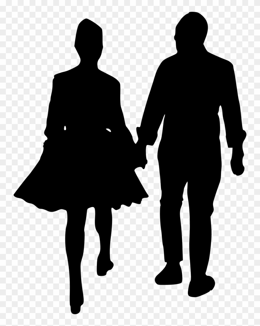 Clipart couple walking clip library Couple Holding Umbrella Silhouette At Getdrawings - People Walking ... clip library