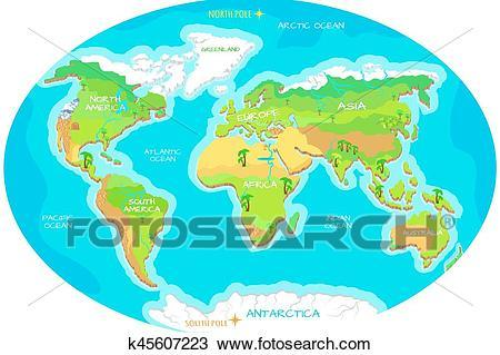Clipart couri png download Continents and oceans clipart 4 » Clipart Portal png download