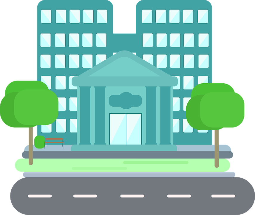 Clipart court house vector Collection of Bank Cliparts Building | Buy any image and use it for ... vector
