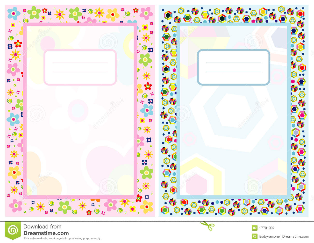 Clipart cover page image Notebook Cover Page Stock Photography - Image: 17701092 image