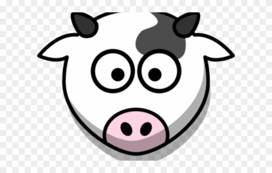 Clipart cow face picture black and white download Head Clipart Cow\'s - Cartoon Cow Face - Png Download (#662296 ... picture black and white download