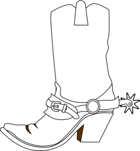 Cowboy boots clipart images library Cowboy Boot clip art - vector clip art online, royalty free ... library
