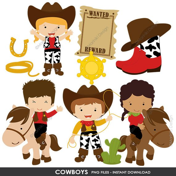 Clipart cowboys picture freeuse Cowboy Clipart, Cowgirl Clip Art, Wild West, Western Clipart for ... picture freeuse