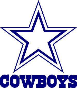 Dallas cowboys emblem clipart