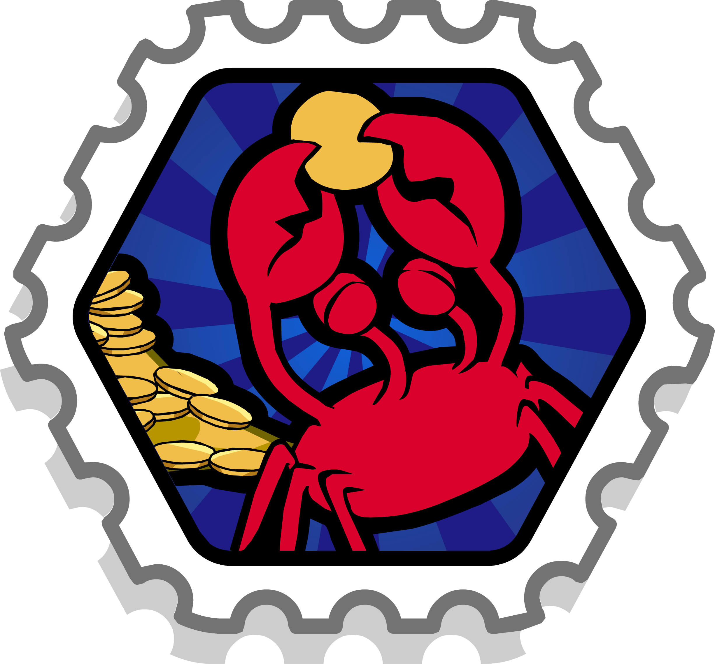 Clipart crab holding money picture library Crab's Treasure Stamp   Club Penguin Rewritten Wiki   FANDOM powered ... picture library