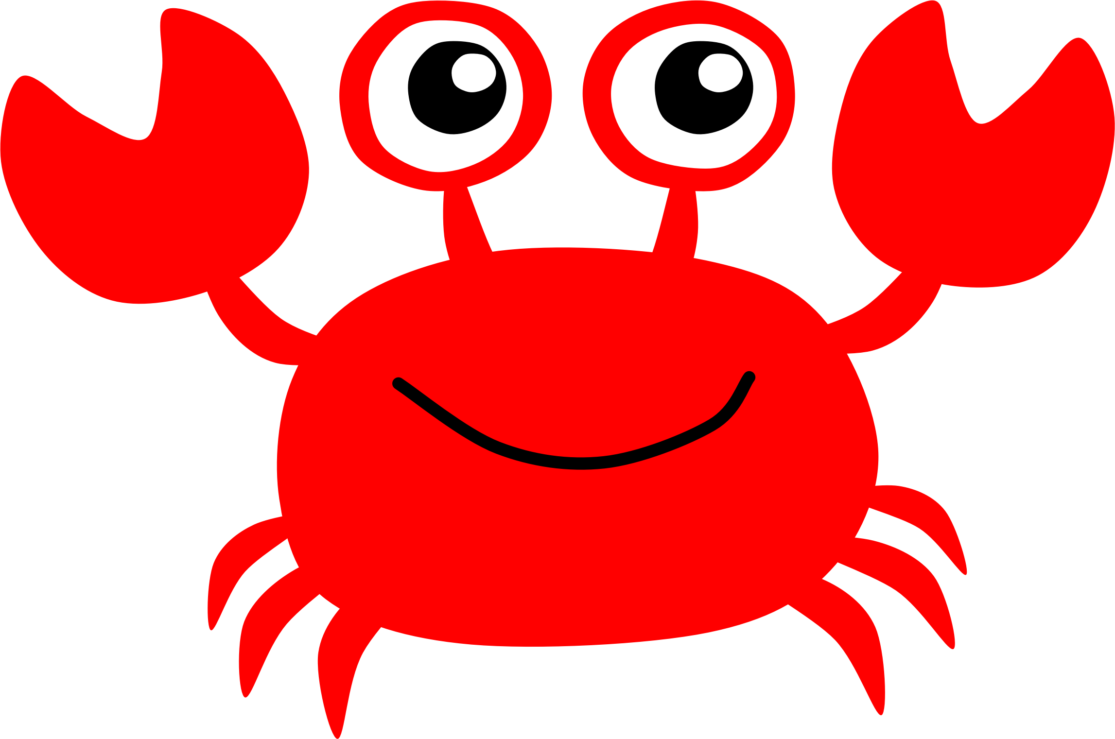 Clipart crab holding money jpg stock Red Crab by @Scout, A clipart of cute red crab., on @openclipart ... jpg stock