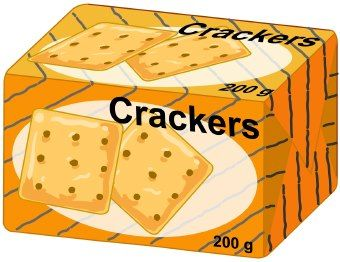 Clipart crackers graphic royalty free stock clip Art crackers | Clip art of a box or package of crackers ... graphic royalty free stock
