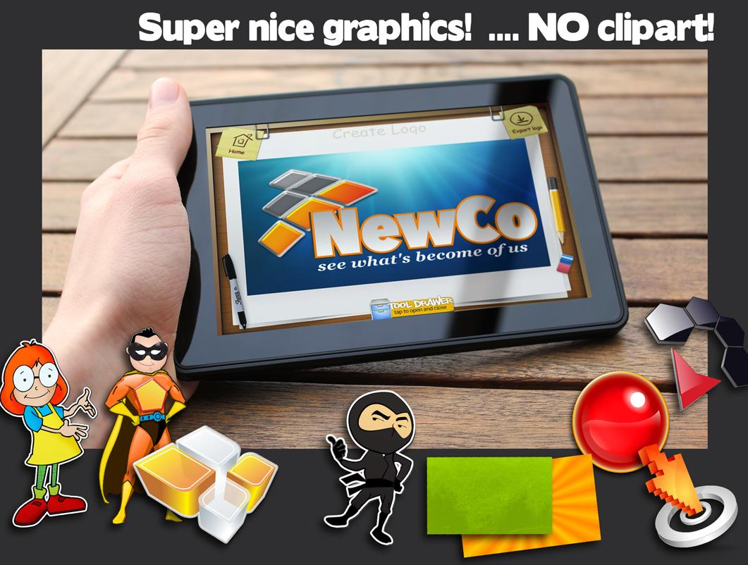 Clipart creator app. Logo maker android apps