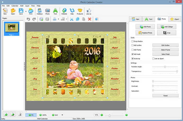 Clipart creator software banner freeuse stock Photo Calendar Creator - Download banner freeuse stock