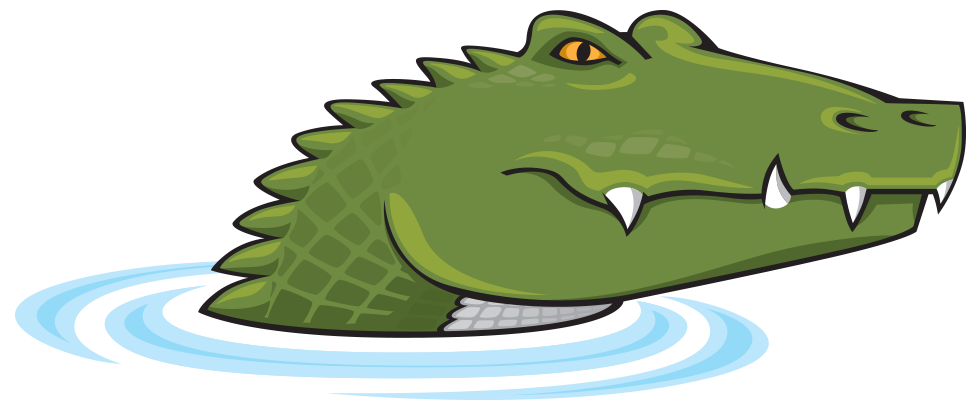 Clipart crocodile with a basketball in its mouth banner free stock Alligator Charlotte NC banner free stock