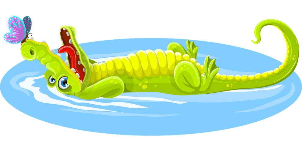 Clipart crocodile with a basketball in its mouth image transparent moral stories for kids- A story of a Rabbit and the crocodile image transparent