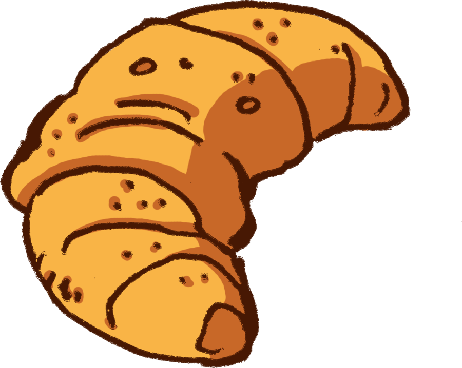 Clipart croissants freeuse library Free Croissant Picture, Download Free Clip Art, Free Clip Art on ... freeuse library