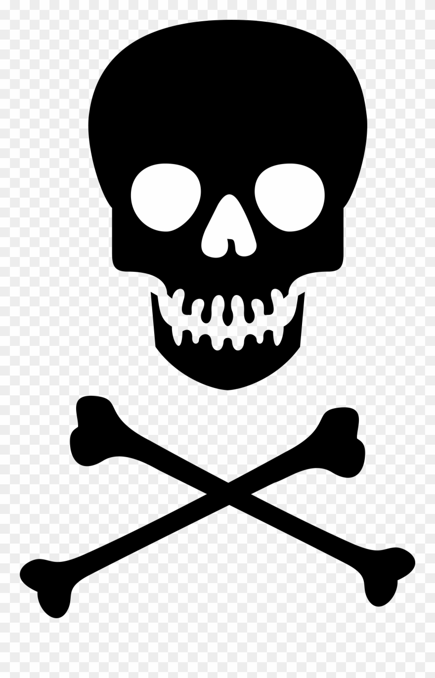 Skull clipart with clear background clip art library stock Skull And Crossbones No Background Clipart (#1423458) - PinClipart clip art library stock