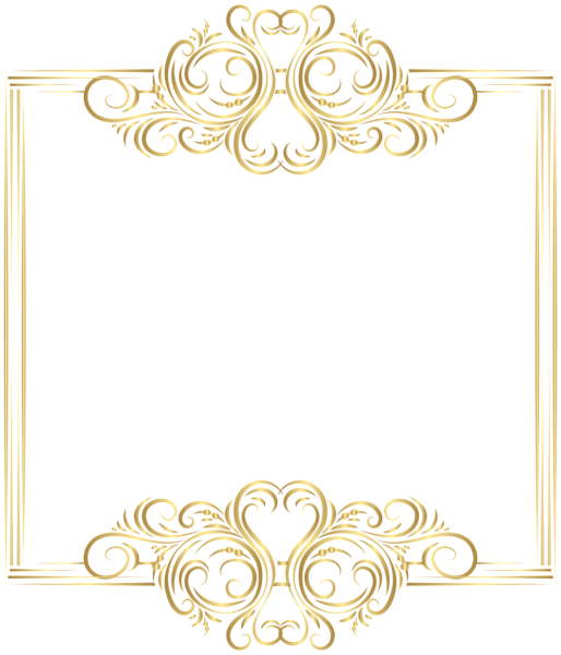 Crown fillagree clipart svg black and white download Gold Border Frame PNG Clip Art | PNG | Pinterest | Clip art and Patterns svg black and white download