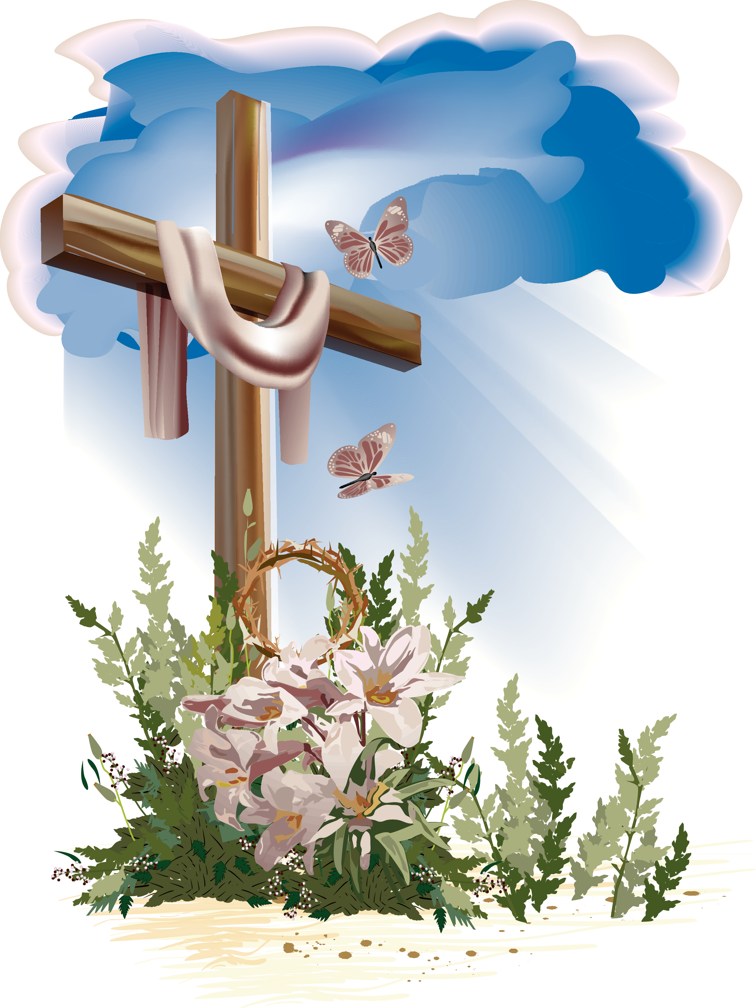 Easter flower cross clipart picture royalty free library http://bishopumc.org/hp_wordpress/wp-content/uploads/2013/03/Easter ... picture royalty free library