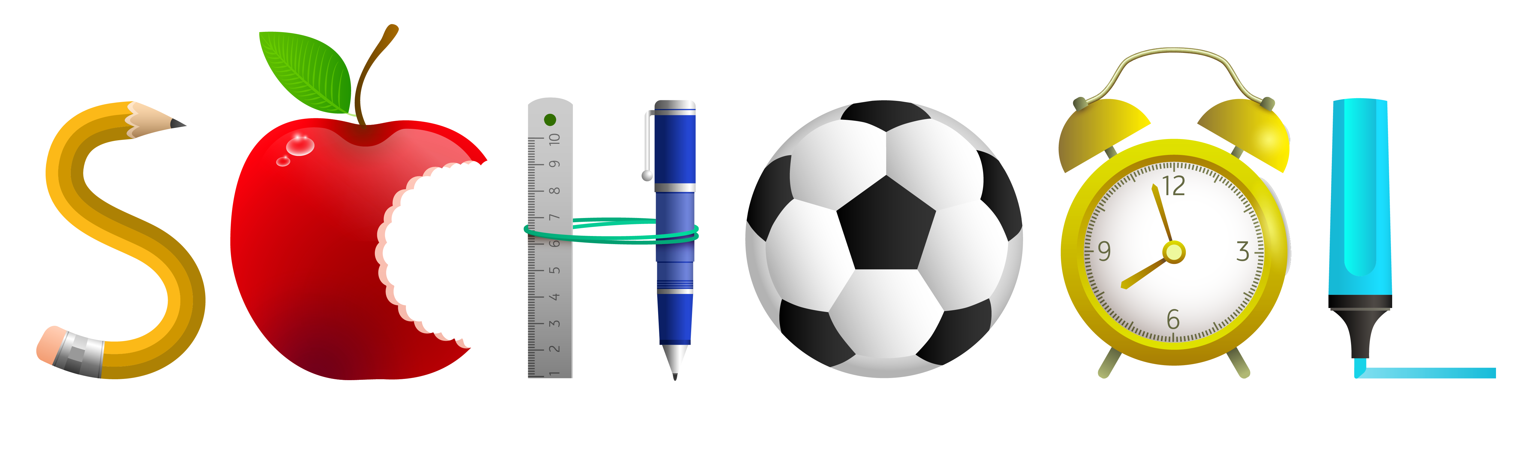 Football field ruler clipart. School label png picture