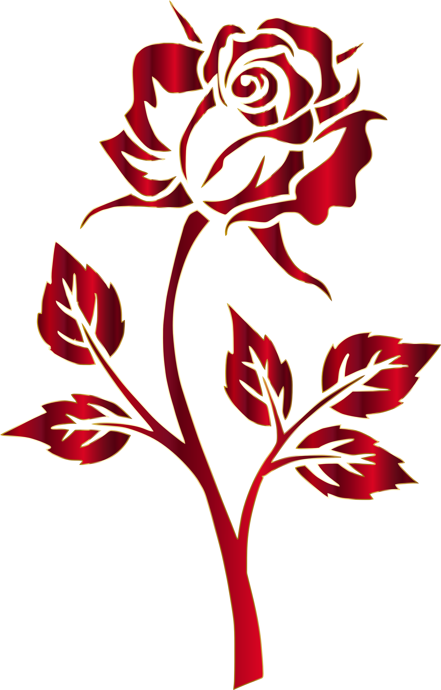 Cross clipart with flowers vector library Crimson Rose Silhouette No Background by @GDJ, Crimson Rose ... vector library
