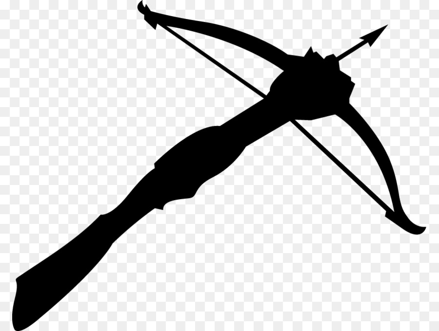 Clipart crossbow vector black and white stock Crossbow Ranged weapon Bow and arrow Clip art - others png download ... vector black and white stock