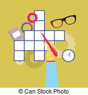 Clipart crossword puzzle jpg royalty free library Crossword puzzle Clipart and Stock Illustrations. 7,427 Crossword ... jpg royalty free library