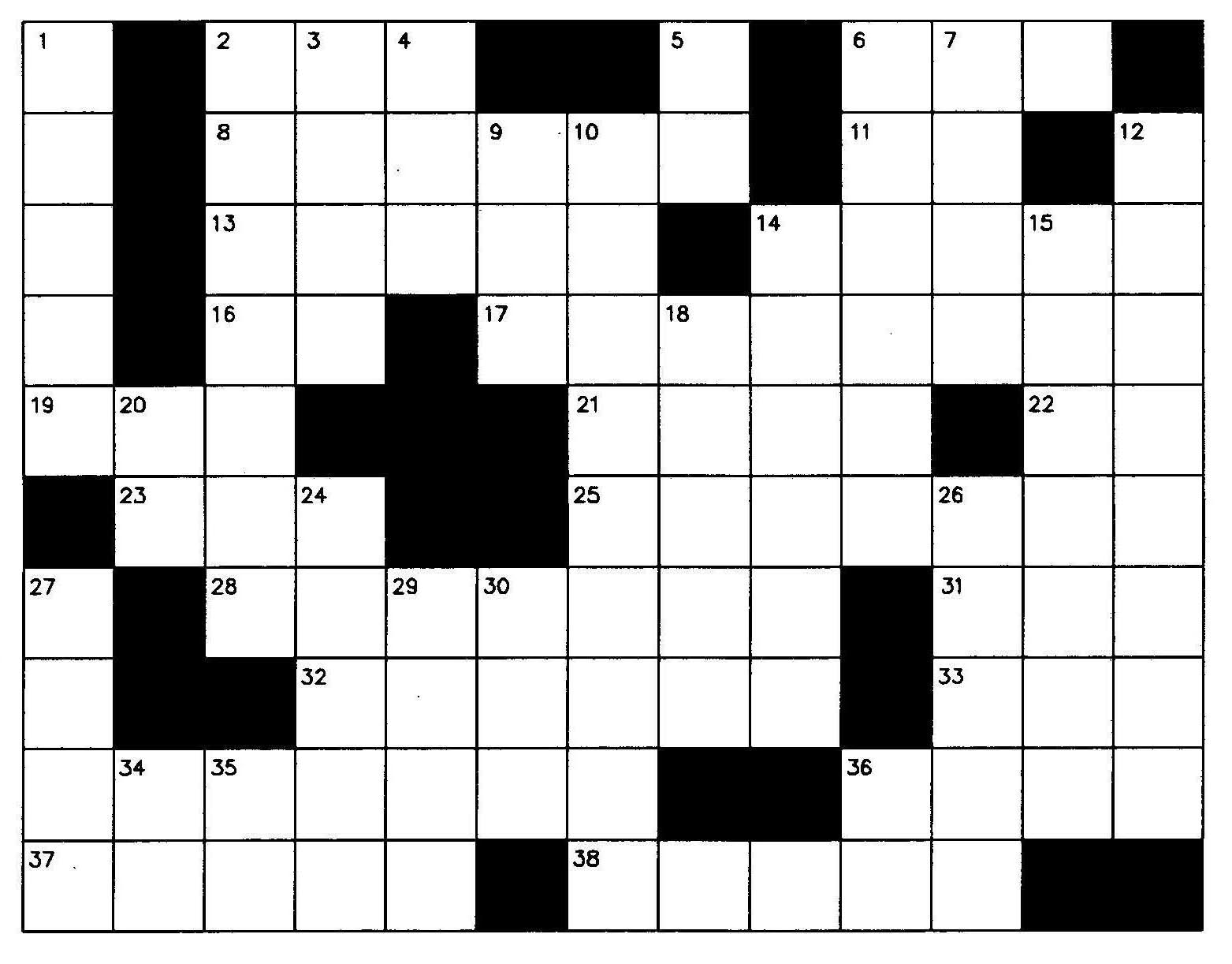 Clipart crossword puzzle png library download Blank crossword puzzle | Clipart Panda - Free Clipart Images png library download