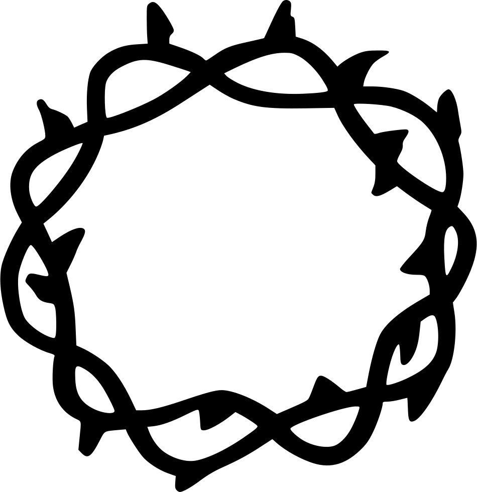 Crown of thorns clipart free. Thorn svg png icon