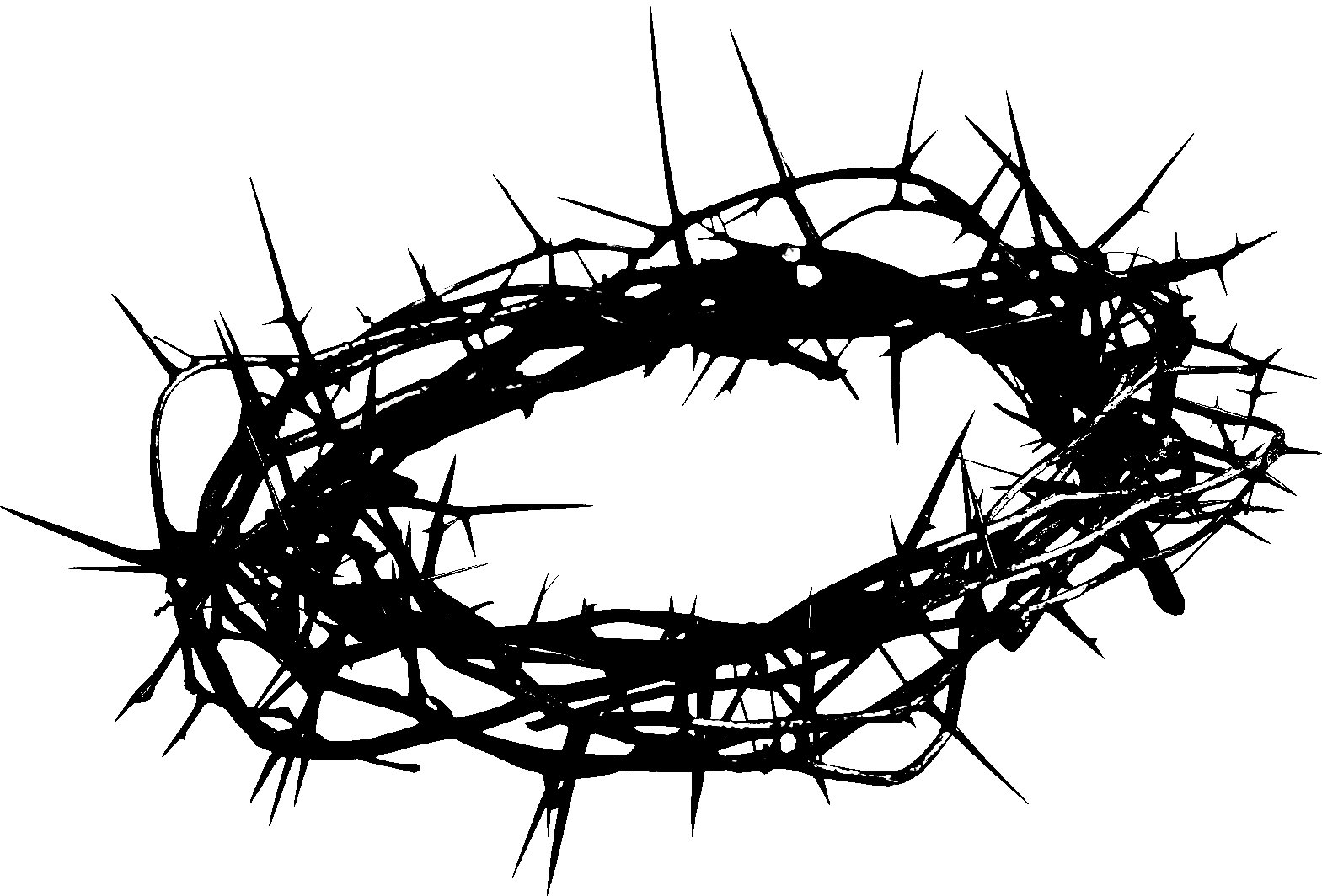 Crown of thorns clipart transparent picture transparent Crown of thorns artwork. Add some colorful flowers to make a ... picture transparent