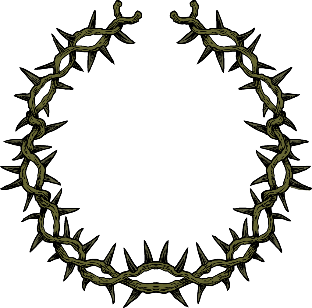 Crown of thorns clipart free. And nails clip art