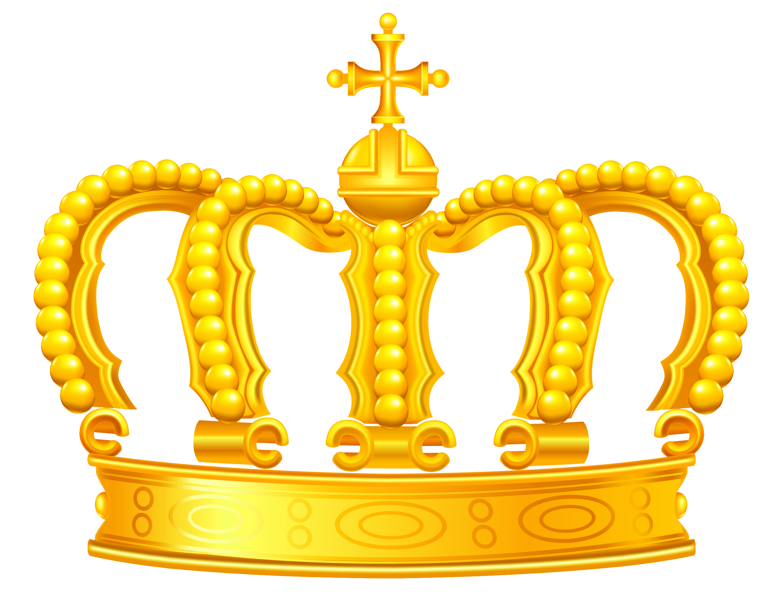 Gold png view full. Crown clipart free